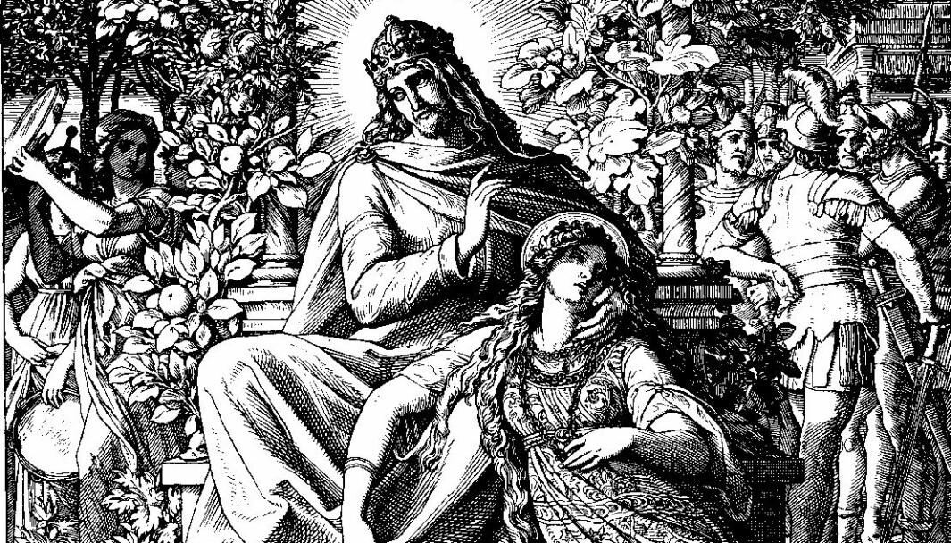 «Høysangen», tresnitt av Julius Schnorr von Carolsfeld for Die Bibel in Bildern, 1860.