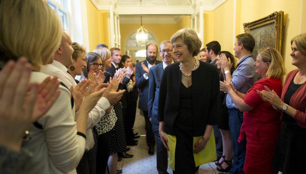 Nick Timothy (i midten med skjegg) var kjent som Theresa Mays rådgiver. Nå er han aktuell med boken «Remaking One Nation: The Future of Conservatism».