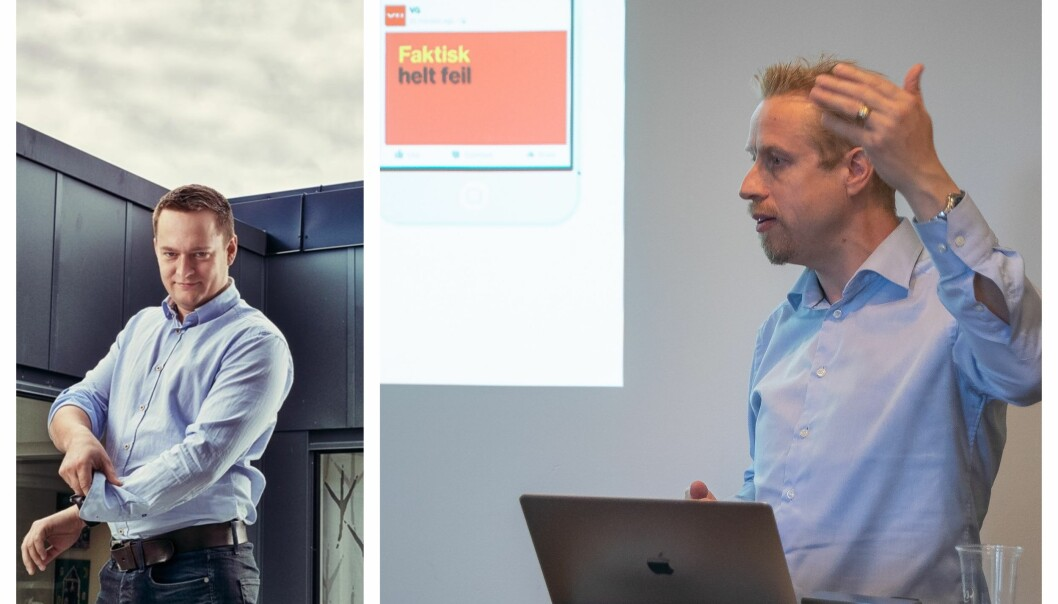 Ordfører i Stjørdal Ivar Vigdenes og Redaktør i Faktisk.no Kristoffer Egeberg
