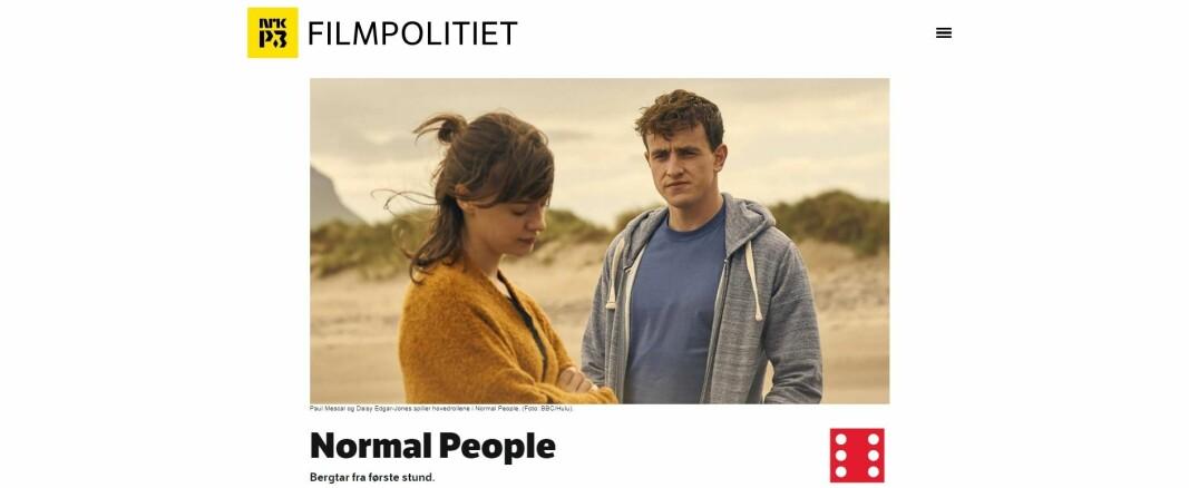 NRK både strømmer og anmelder serien Normal People.