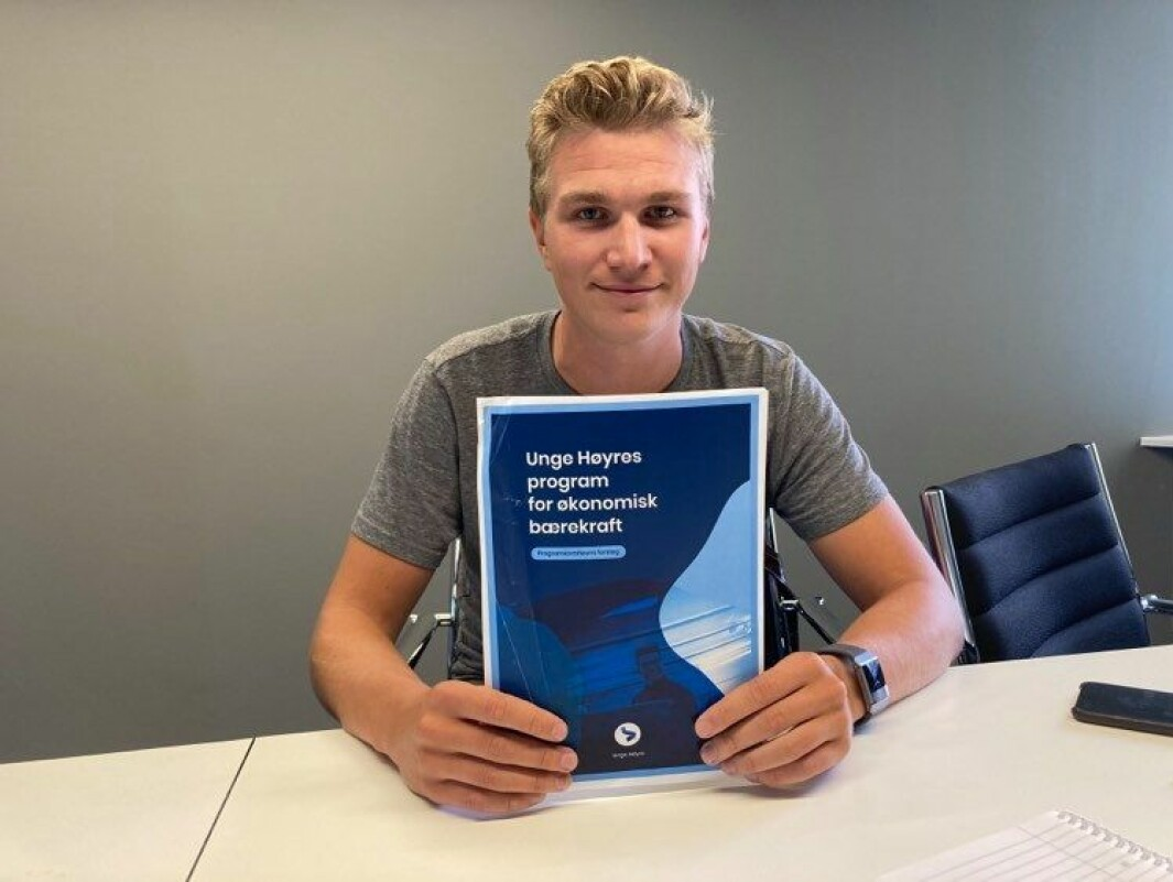 Nicolai Øyen Langfeldt er sentralstyremedlem i Unge Høyre