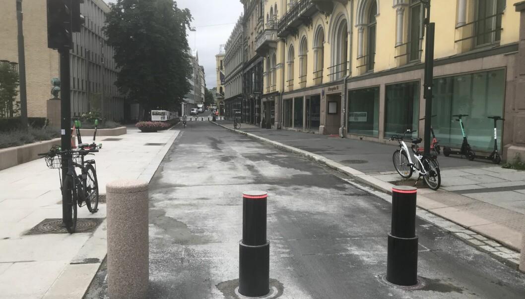 Bylandskap med elsparkesykkel
