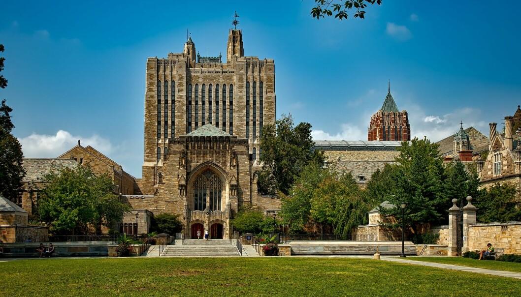 Amerikanske eliteuniversiteter, her Yale, er dyre. Men de er ikke typiske for USA.