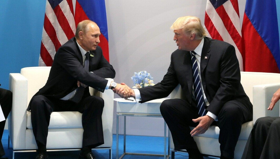 Russlands president Vladimir Putin og USAs president Donald Trump.