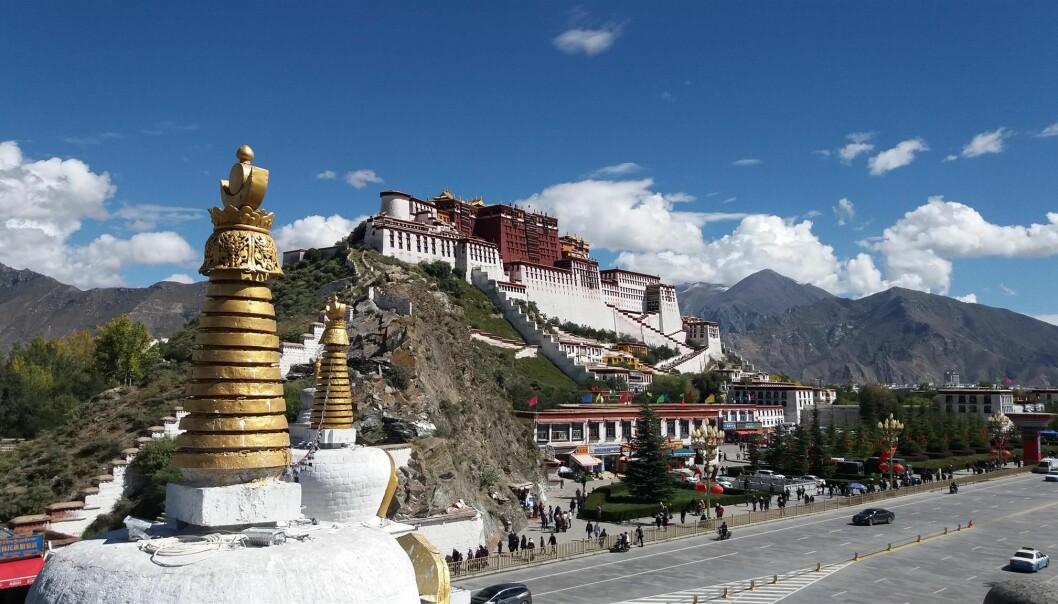Potalapalasset i Tibet