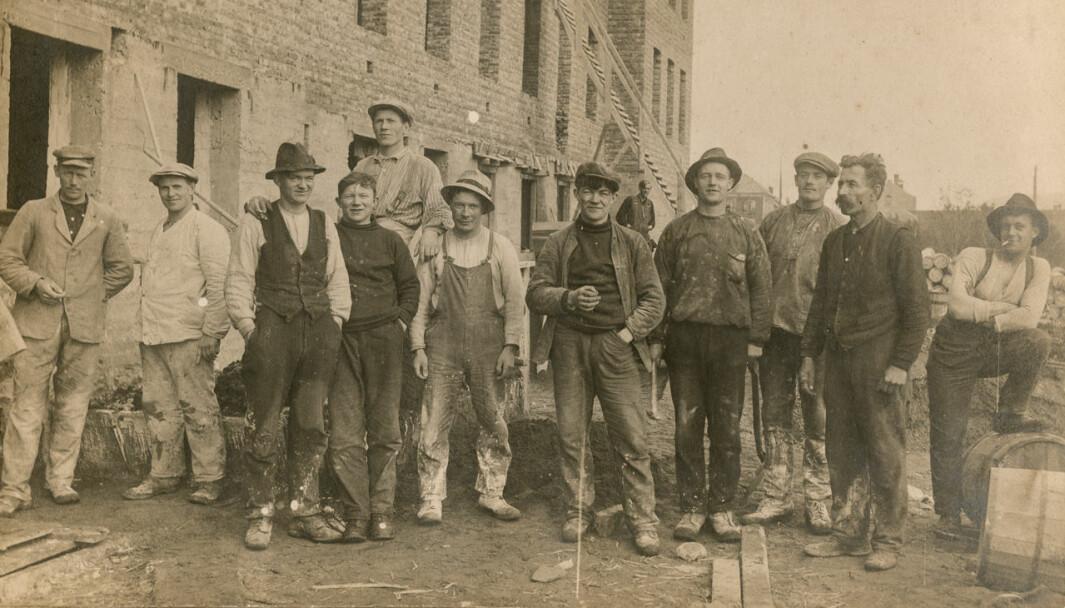 Bilde av arbeidere fra Perspektivet Museum