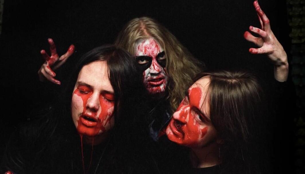 Mayhem i 1988: Øystein Aarseth, Pelle «Dead» Ohlin og Jørn Stubberud.
