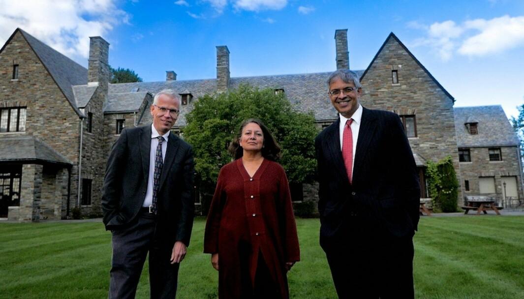 De tre vitenskapsfolkene bak the Great Barrington Declaration (f.v.) Martin Kulldorff, Sunetra Gupta og Jay Bhattacharya