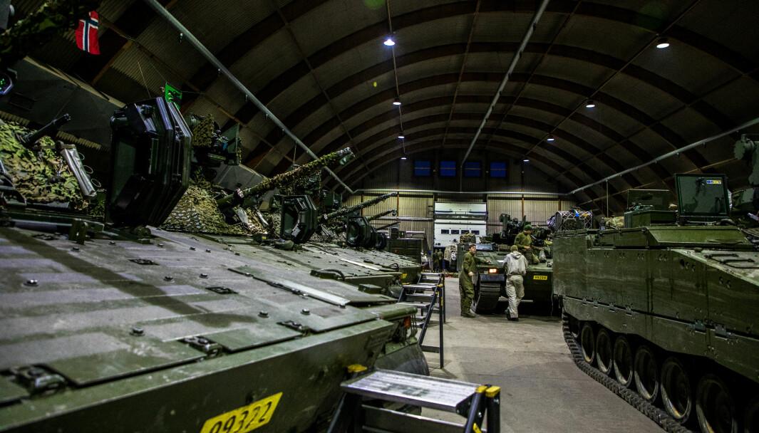 Kampstøtteeskadron 6 i Porsanger bataljon før øvelse.
