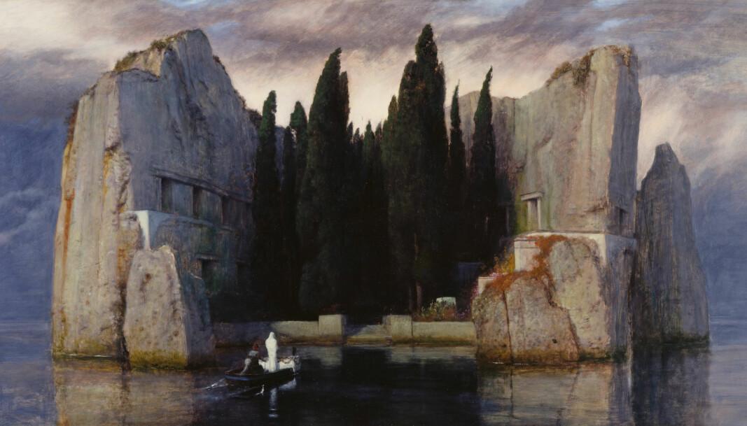 Arnold Böcklin, <em>Die Toteninsel</em>, tredje versjon (olje på lerret, 1883)