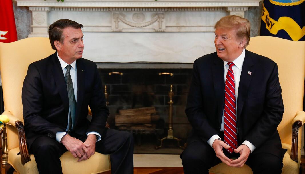 Politisk korrekthets antitese: Brasils president Jair Bolsonaro og USAs president Donald Trump.