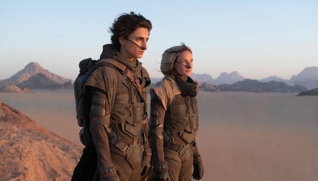 Timothée Chalamet og Rebecca Ferguson spiller i den nye Dune-filmen.