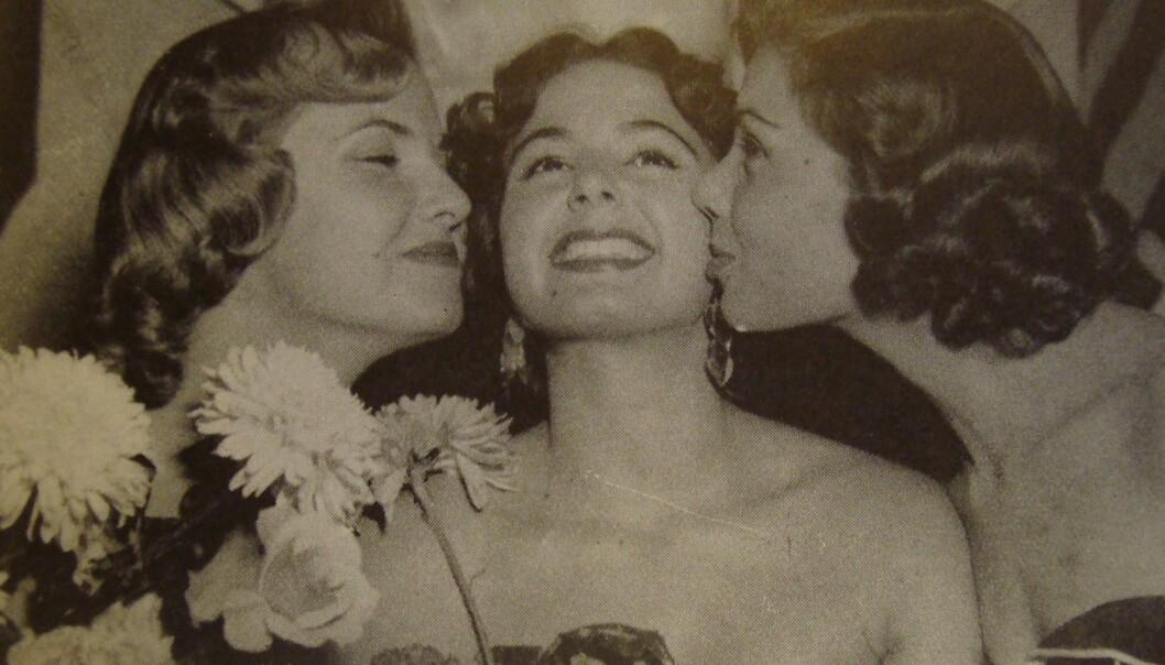"""Antigone Costanda vant skjønnhetskonkurransen Miss World i 1954. Hun var en representant for de egyptiske grekerne, også kalt """"egyptioter""""."""