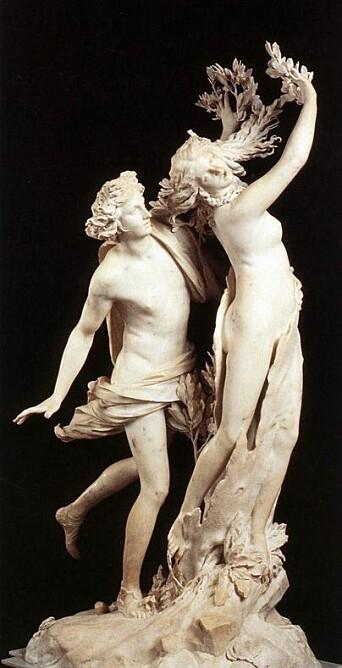 Berninis skulptur av Apollo og Dafne.