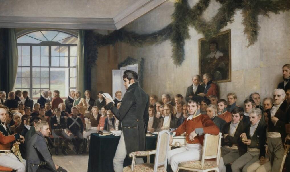 Burke nådde kanskje omsider helt hit, til Norges grunnlov.