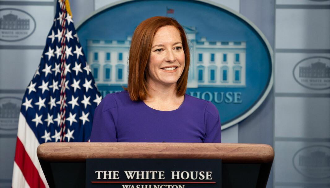 Joe Bidens pressesekretær Jen Psaki uttalte i går at Det hvite hus vil gå gjennom WHOs rapport så fort som mulig, for å gjøre seg opp en mening om funnene.