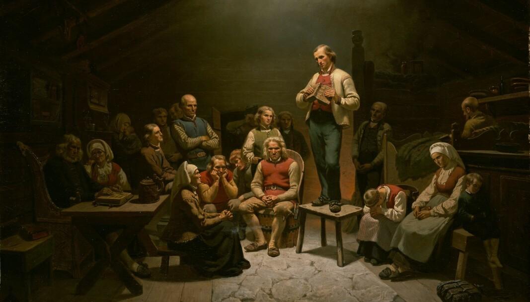 Adolph Tidemand, «Haugianerne», 1848