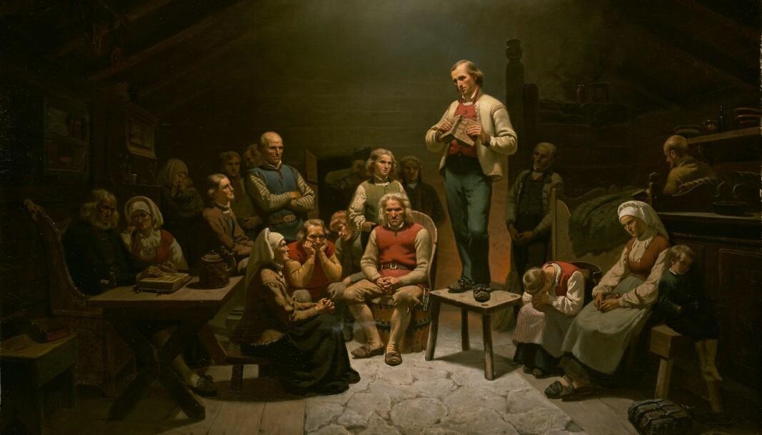 Adolph Tidemands maleri «Haugianerne» er fremdeles et av de vakreste uttrykkene for kristendom jeg vet om, skriver Håvard J. Nilsen.