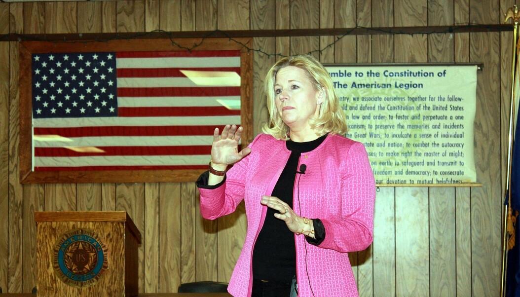 Liz Cheney taler i Buffalo, Wyoming, i 2013.