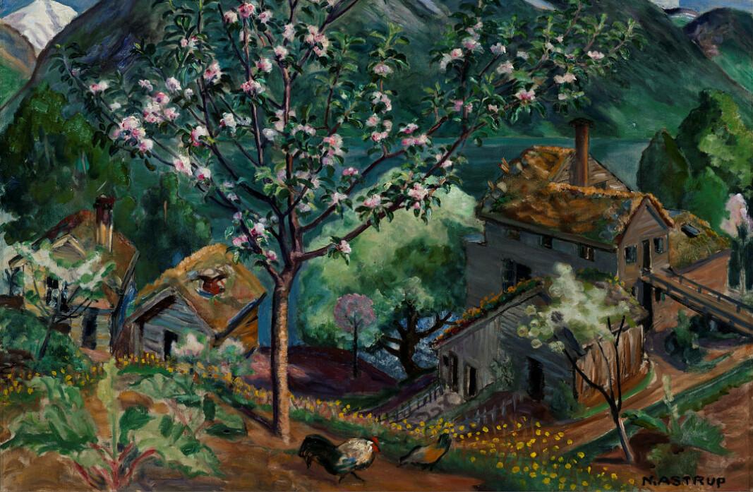 Nikolai Astrup: Epletre i blomst