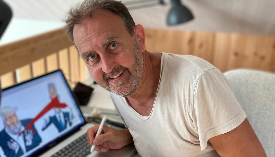 Egil Nyhus har som avistegner opplevd tidene endre seg og nedslagsfeltet for tegninger gå fra lokalt, til globalt.