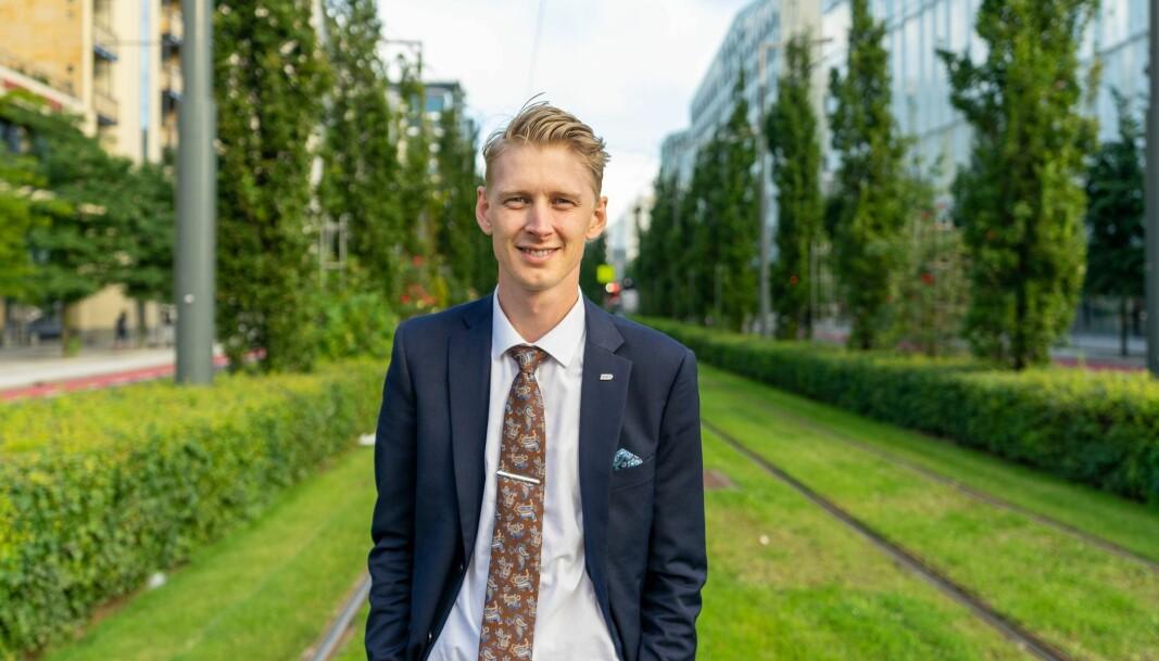 Forsvaret av norsk olje og gass ble en god sak for Frp under skolevalget, mener leder for Fremskrittspartiets Ungdom Andreas Brännström. Slagordet «Drill, baby, drill!» ble møtt med trampeklapp i skoledebattene, forteller han Minerva.