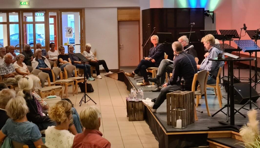 Bandet Skeive Vekkelsen skulle opptre på dette arrangementet i Misjonshuset i Kristiansand. Det skjedde imidlertid ikke.